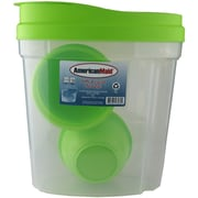 American Maid Plastic 8 Piece Cereal Storage Set; Green