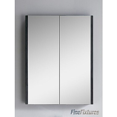 Fine Fixtures Vdara 24'' x 31.5'' Wall Mounted Flat Medicine Cabinet; Black