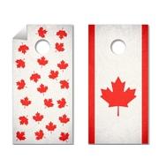 TheCornholeCrew 2 Piece O Canada, Eh? Cornhole Board Decal Set