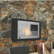 Eco-Feu Montreal Wall Mount Ethanol Fireplace; Stainless Steel