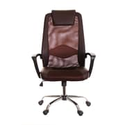TimeOffice High-Back Mesh Desk Chair; Brown