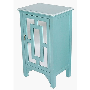 Heather Ann 1 Door Accent Cabinet; Turquoise
