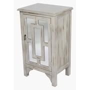 Heather Ann 1 Door Accent Cabinet; Beige Wash