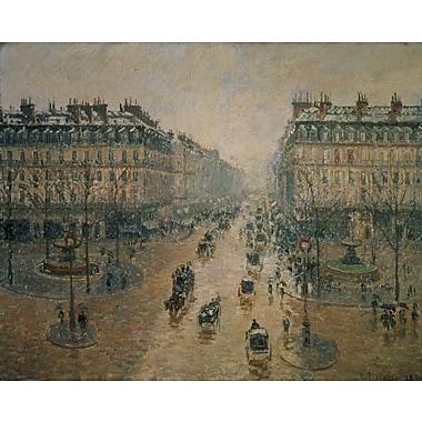 Wallhogs ''Pissaro Avenue de L'Opera'' (1898) Glossy Poster; 19'' H x 24'' W