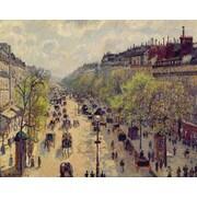 Wallhogs ''Pissarro Boulevard Montmartre'' (1897) Glossy Poster; 48'' H x 60'' W