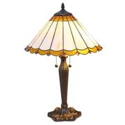 SerenaD'Italia Tiffany Scalloped 23'' Table Lamp