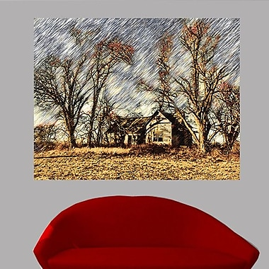 Wallhogs Batie's ''Abandoned House'' Glossy Poster; 47'' H x 60'' W