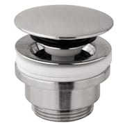 WS Bath Collections Light Exclusive Universal Push Pop Up Bathroom Sink Drain; Polished Chrome