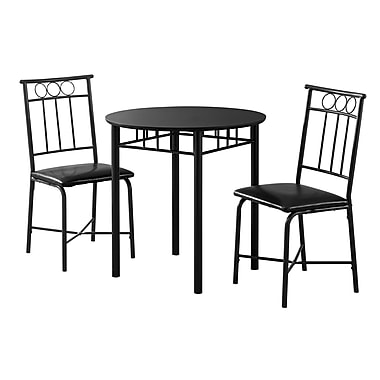 Monarch I 1013 Metal Dining Set, Black