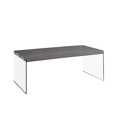 Monarch I 3220 Coffee Table with Tempered Glass, Grey