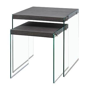 Monarch – Tables gigognes avec verre trempé, gris (I 3221)
