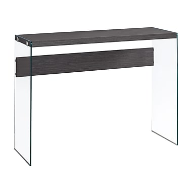 Monarch I 3222 Console Table with Tempered Glass, Grey