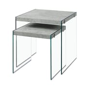 Monarch I 3231 Cement Look Nesting Tables, Grey