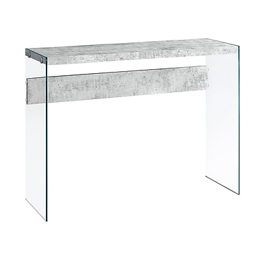 Monarch I 3232 Cement Look Console Table, Grey