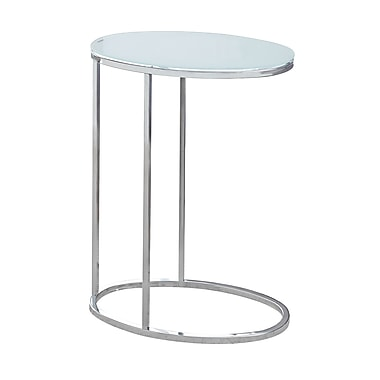 Monarch I 3240 Oval Frosted Glass Accent Table