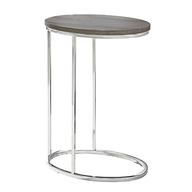 Monarch I 3241 Oval Accent Table, Dark Taupe