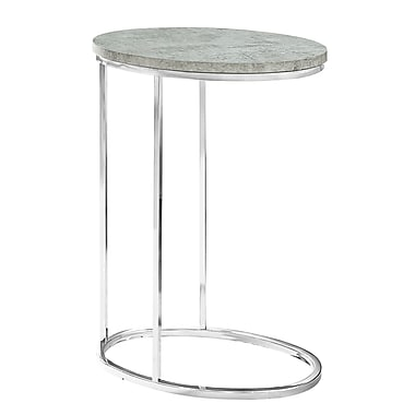 Monarch – Table d'appoint ovale à effet de ciment gris I 3244