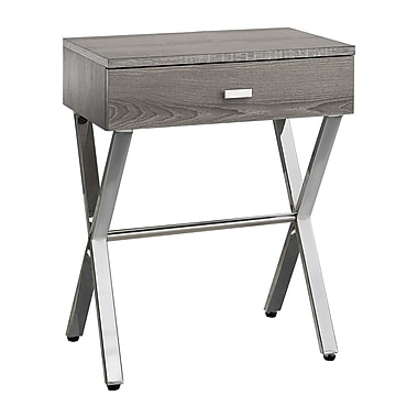 Monarch I 3263 Accent Night Stand Table, Dark Taupe