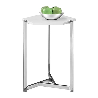 Monarch I 3275 Hexagon Accent Table, Glossy, White