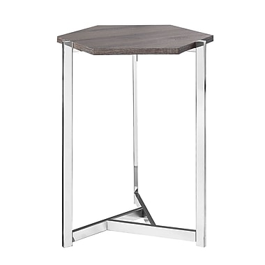Monarch – Table d'appoint hexagonale, taupe foncé, I 3276