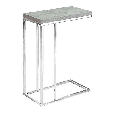 Monarch I 3372 Accent Table, Grey Cement Look