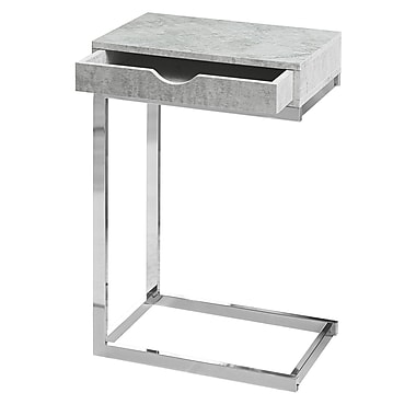 Monarch I 3373 Accent Table with a Drawer, Grey Cement Look