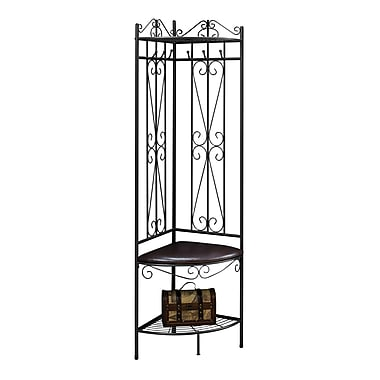 Monarch I 4548 Metal Hall Entry Bench, Copper