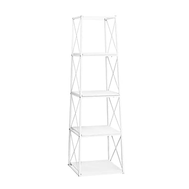 Monarch I 7247 Metal Bookcase, White