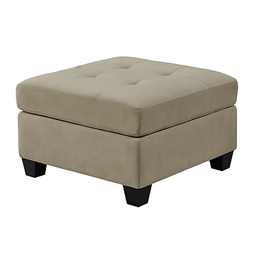 Monarch – Pouf en velours ultra doux I8376TP, taupe