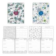 Blueline® - Agenda scolaire hebdomadaire/mensuel DoodlePlan™ à colorier, 2017-2018, 8 po x 5 po