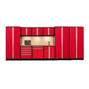 NewAge Products Pro Series 3.0 10-Piece Garage Storage Set, Bamboo Work Top, Red (52351)