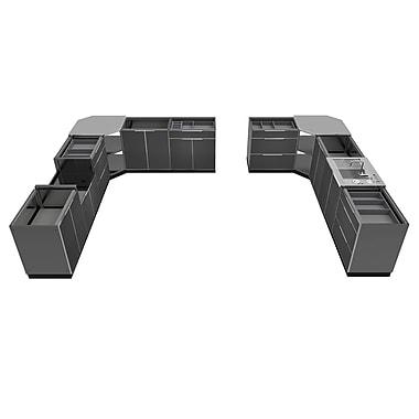 NewAge Products – Ensemble d'armoires de cuisine en 11 pièces pour l'extérieur, aluminium ardoise (65279)