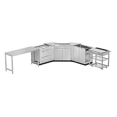NewAge Products – Ensemble d'armoires de cuisine en 7 pièces pour l'extérieur, acier inoxydable (65080)