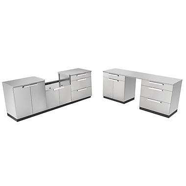 NewAge Products – Ensemble d'armoires de cuisine en 9 pièces pour l'extérieur, acier inoxydable (65063)