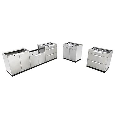 NewAge Products – Ensemble d'armoires de cuisine 5 pièces pour l'extérieur, acier inoxydable (65081)