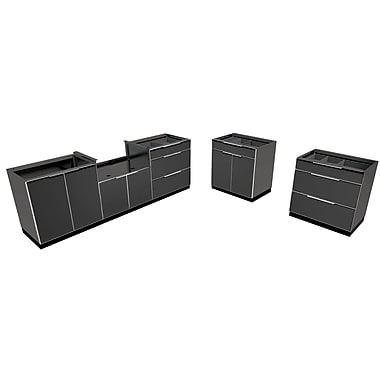 NewAge Products Outdoor Kitchen 5-Piece Cabinet Set, Aluminum Slate (65281)