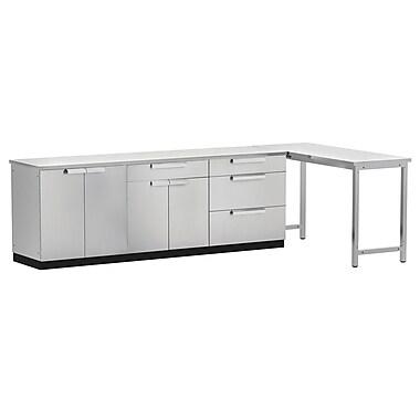 NewAge Products – Ensemble d'armoires de cuisine en 5 pièces pour l'extérieur, acier inoxydable (65062)