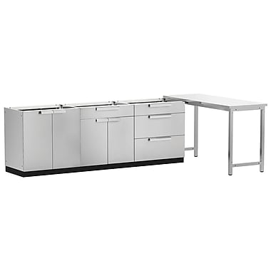NewAge Products – Ensemble d'armoires de cuisine en 4 pièces pour l'extérieur, acier inoxydable (65083)