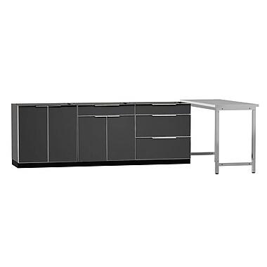 NewAge Products – Ensemble d'armoires de cuisine de 4 pièces pour l'extérieur, type A