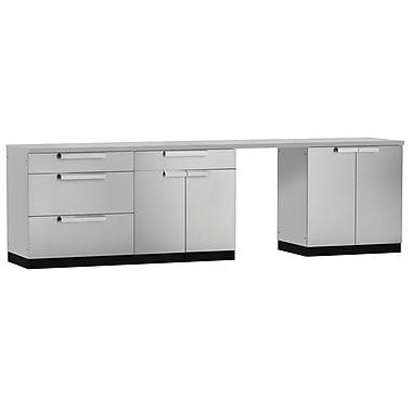 NewAge Products – Ensemble d'armoires de cuisine en 5 pièces pour l'extérieur, acier inoxydable (65050)