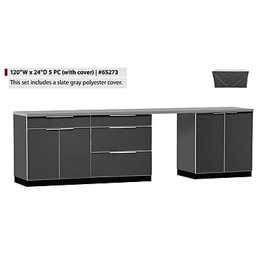 NewAge Products – Ensemble d'armoires de cuisine de 5 pièces pour l'extérieur avec housses, type A