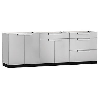 NewAge Products – Ensemble d'armoires de cuisine en 3 pièces pour l'extérieur, acier inoxydable (65084)