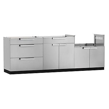 NewAge Products – Ensemble d'armoires de cuisine en 3 pièces pour l'extérieur, acier inoxydable (65086)