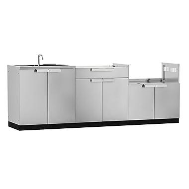 NewAge Products – Ensemble d'armoires de cuisine en 3 pièces pour l'extérieur, acier inoxydable (65087)
