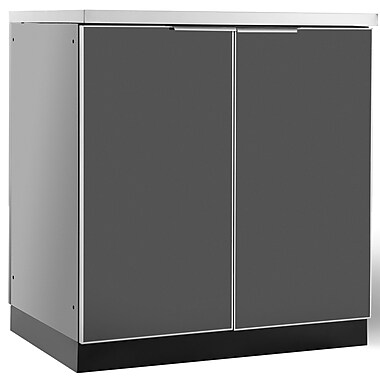 NewAge Products – Armoire de cuisine à 2 portes pour l'extérieur, aluminium poli (65200)