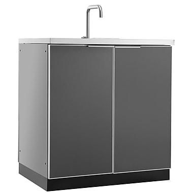 NewAge Products Outdoor Kitchen Sink Cabinet, Aluminum Slate (65201)
