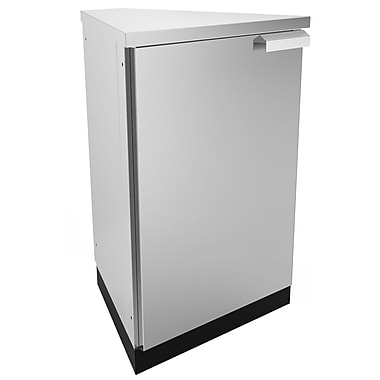 NewAge Products – Armoire de cuisine en coin pour l'extérieur, 45 degrés, acier inoxydable (65005)