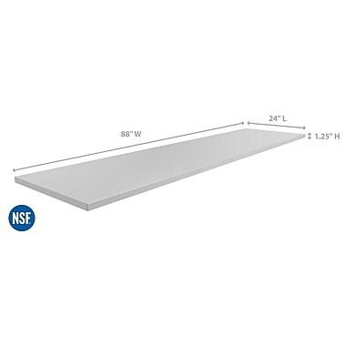 NewAge Products – Comptoir de cuisine pour l'extérieur de 88 x 24 po, acier inoxydable (65803)