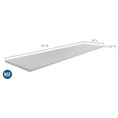 NewAge Products – Comptoir de cuisine pour l'extérieur de 96 x 24 po, acier inoxydable (65804)