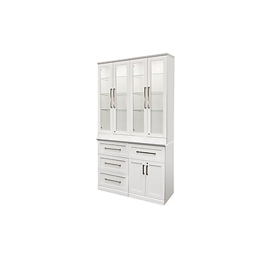 New Age Products –Ensemble Home Bar 5 pièces, 48 x 17 po, style shaker, blanc (60065)